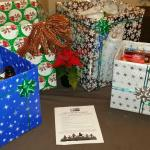 Holiday baskets for the elderly provided by our staff