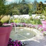 Fountain and flowers in the Kitchen garden