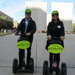 In front of the JFK Memorial on the Segways