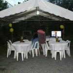 The party area....
