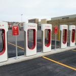 Tesla charging stations (parking lot)