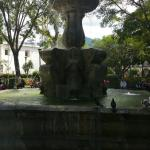 Water fountain at Parque Central.