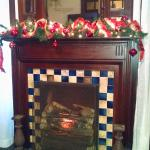 One of the fireplaces
