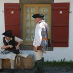 Residents of Louisbourg in period costume.