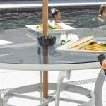 Spa lunches by the side of the outdoor spa pool
