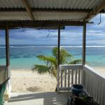 View from inside fale