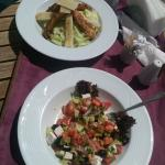 Light Lunch, chicken and salad.