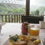 breakfast with beautiful view