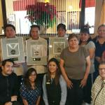 The Staff at the Comfort Suites in Gallup with our 4 Platinum Plaques