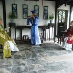 Music recitation in one of the pavilions