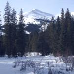 View of the Breckenridge peak while snowshoeing.