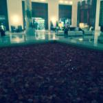 The fountain filled with petals in the impressive foyer,   Smelt absolutely amazing.
