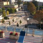 View from roof top pool area. Piazza Italia