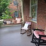 The wide cozy porch was a wonderful spot to read, drink tea, or chat before going out on the tow