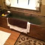 I fell in love with the beautiful copper soaking tub.