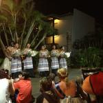 Amazing Fijian singers and dancers at dinner