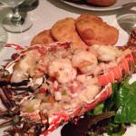Special lobster and Arepas