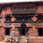 Our Motorcycles infront of Peacock guest house Bhaktapur