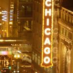 View from our room--The Chicago Theater