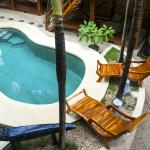 View of pool from bungalow