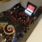 Reception and bar - view from above