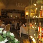 Well-lit, with a good selection of wines and whiskies to admire!