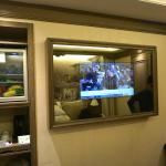 Minibar and TV (awesome!)