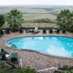 VIEW OF SWIMMING POOL LOOKING OUT TO MASAI MARA
