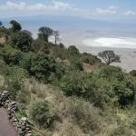 VIEW OF CRATER FROM OUTSIDE AREA NGORONGORO