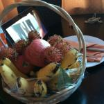 Welcoming fruit basket was well stock with a variety of tropical fruits