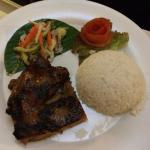 Choice of main course - grilled chicken honey with jasmine steam rice