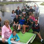 The family pose...we actually were in 3 airboats for the ride!