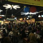 The popular 'food court' near the hotel