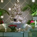 The Christmas tree in the lounge area