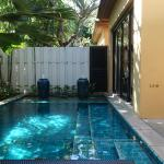 private dipping pool of 1.5m deep next to bedroom