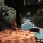 View from Lava restaurant