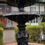 Fountain outside main house