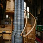Carved stair to pulpit; Temple Church, London