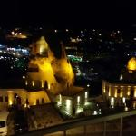 View of goreme from our balcony at night