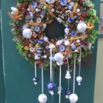 Christmas Door Wreath at the Castle