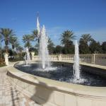 fountains at the front portico