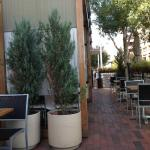 Pleasant outdoor patio at MAS tapas and vino.