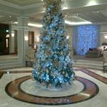 white Chritmas tree at lobby
