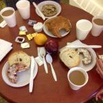 Our continental breakfast spread