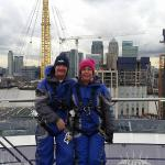 Hubby and I at the top.......