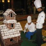 Cristmas atmosphere with real ginger bread house