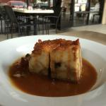 Blueberry Bread Pudding with House Made Caramel Sauce