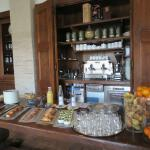Buffet breakfast incl delicious charcuterie, wonderful cheeses - aged Pecorino, salted ricotta,