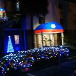 Hotel's front in Christmas time