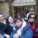 in front of Arethousa hotel with my friends